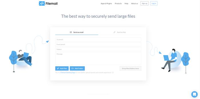 FileMail за изпращане на големи файлове